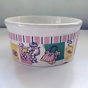 Ceramic Dog Bowl Dish Food Water
